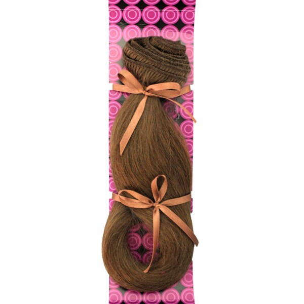 Donna Bella #8 (Light Chestnut Brown) 16-inch Human Remy Hair Extensions