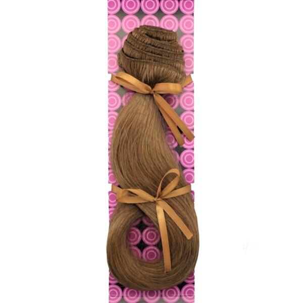 Donna Bella #10/12 (Medium Ash w/ Light Ash Highlights) 16-inch Human Remy Full Head Hair Extensions