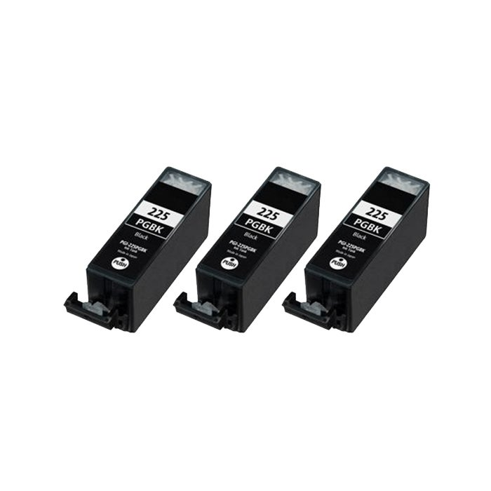 Canon PGI-225BK Compatible Black Ink Cartridge (3 Pack)