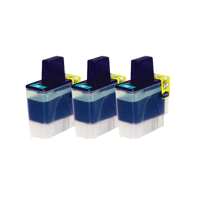 Brother LC41 Compatible Cyan Ink Cartridge (3 Pack)