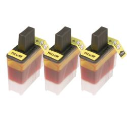 Brother LC41 Compatible Yellow Ink Cartridge (3 Pack)