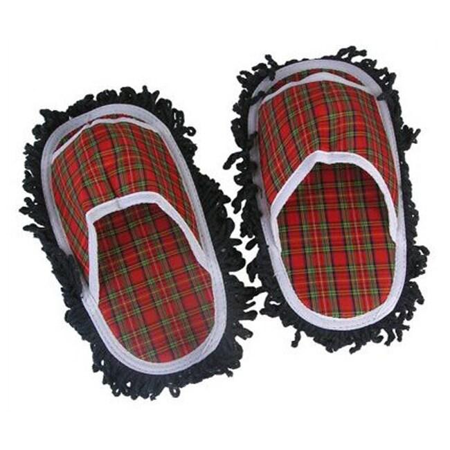 Jobar Plaid Mop Slippers