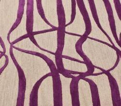 nuLOOM Handmade Curves Purple Wool/ Faux Silk Rug (7'6 x 9'6)
