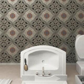 SomerTile 7x7-inch Grava Quatro and Centro Porcelain Floor and Wall Tile (30 tiles/10.95 sqft.)