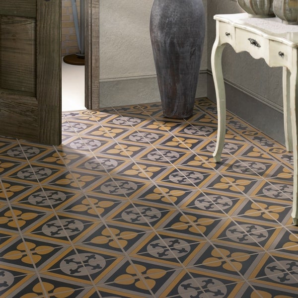 SomerTile 7x7-inch Grava Quatro CLA Centro Porcelain Floor and Wall Tile