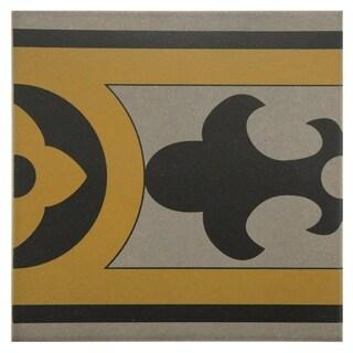 SomerTile 7x7-inch Grava Quatro CLA Cenefa Porcelain Floor and Wall Tile