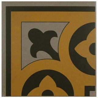 SomerTile 7x7-inch Grava Quatro CLA Esquina Porcelain Floor and Wall Tile