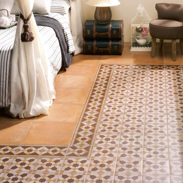 SomerTile 7x7-inch Grava Quatro GEO Centro Porcelain Floor and Wall Tile