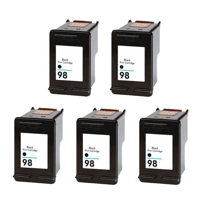 Hewlett Packard HP98 Black Ink Cartridge (Pack of 5) (Remanufactured) - Thumbnail 0