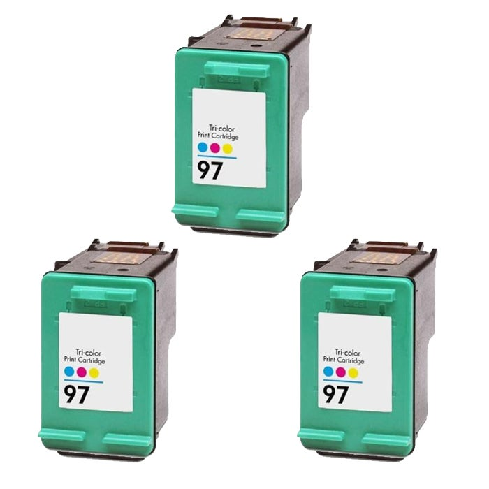 Hewlett Packard HP97 Color Ink Cartridge (Pack of 3) (Remanufactured) - Thumbnail 0