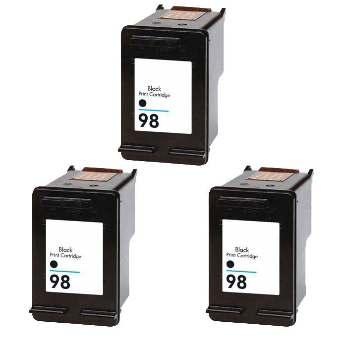 Hewlett Packard HP98 Black Ink Cartridge (Pack of 3) (Remanufactured)