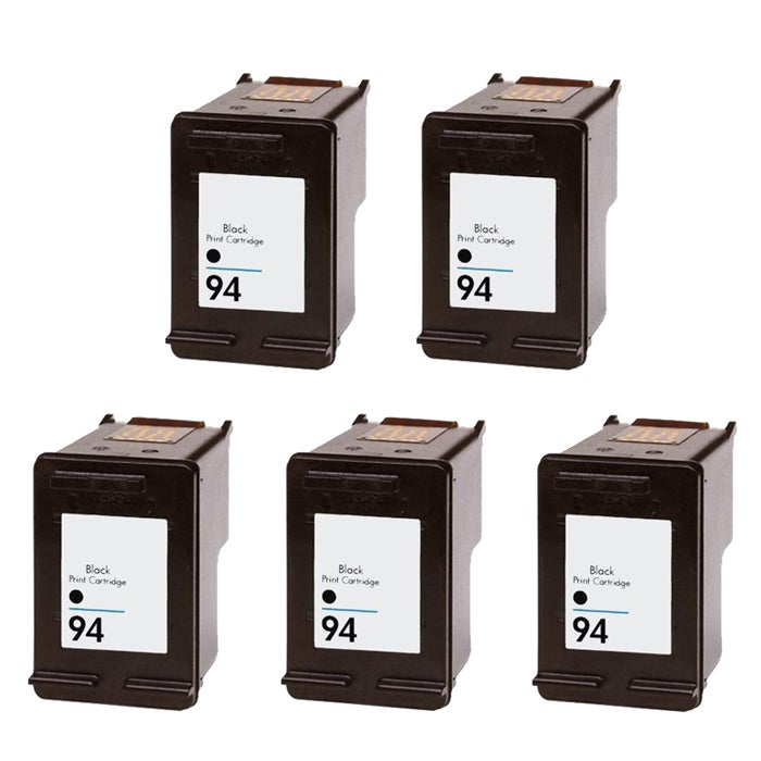 Hewlett Packard HP 94 Black Ink Cartridge (Pack of 5) (Remanufactured) - Thumbnail 0