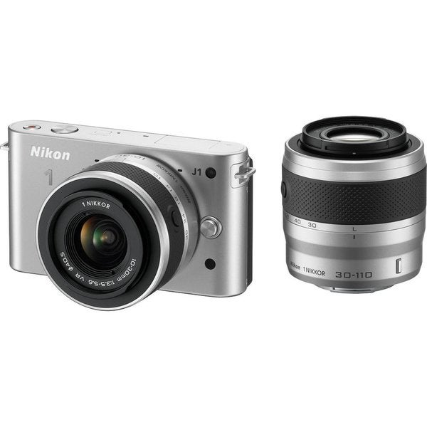 Nikon 1J1 10.1MP Silver Digital Camera with 10-30mm Lens