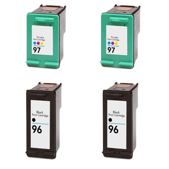 Hewlett Packard HP 96/97 Black/ Color Ink Cartridge (Pack of 4) (Remanufactured)