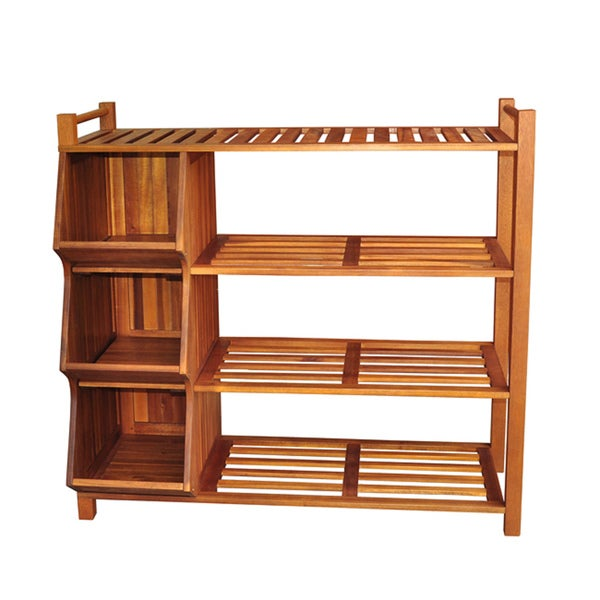 Merry Products Outdoor 4-tier Shoe Rack/ Cubby