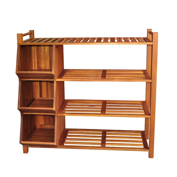 Merry Products Outdoor 4 Tier Shoe Rack/ Cubby