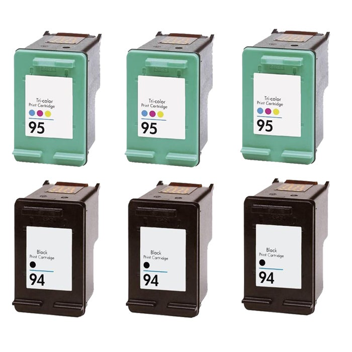 Hewlett Packard HP 94/95 Black /Color Ink Cartridge (Pack of 6) (Remanufactured)