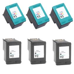 Hewlett Packard HP 92/93 Black/Color Ink Cartridge (Pack of 6) (Remanufactured)