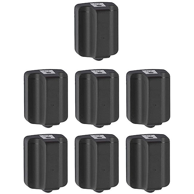Hewlett Packard HP02 Black Ink Cartridge (Pack of 7) (Remanufactured) - Thumbnail 0
