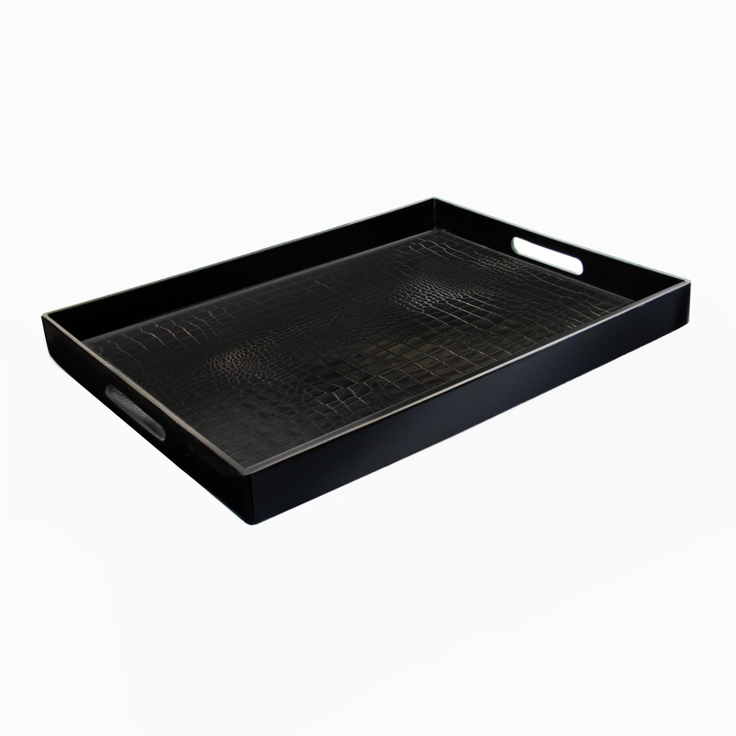 ChargeIt! by Jay Black Rectangular Alligator Tray