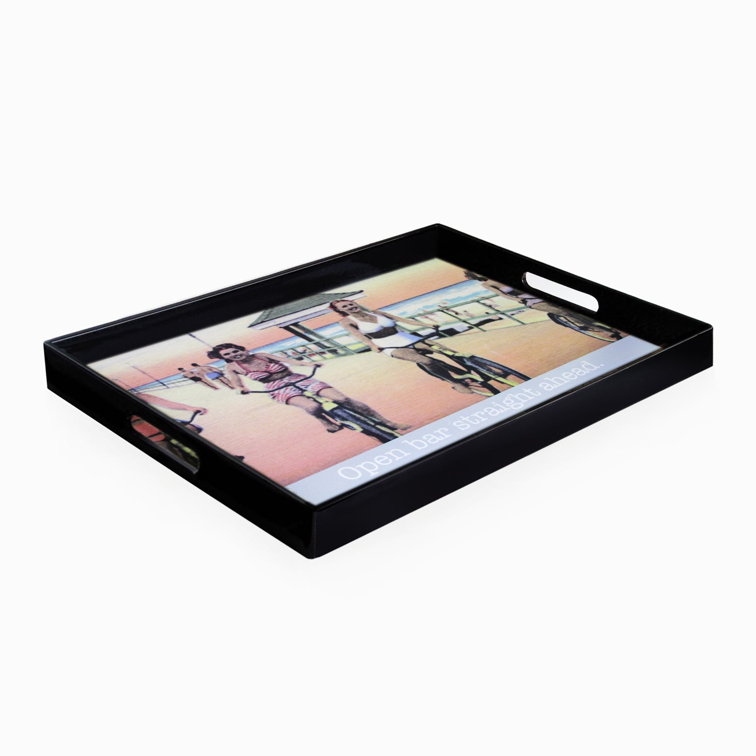 Accents by Jay Open Bar Serving Tray with Handles