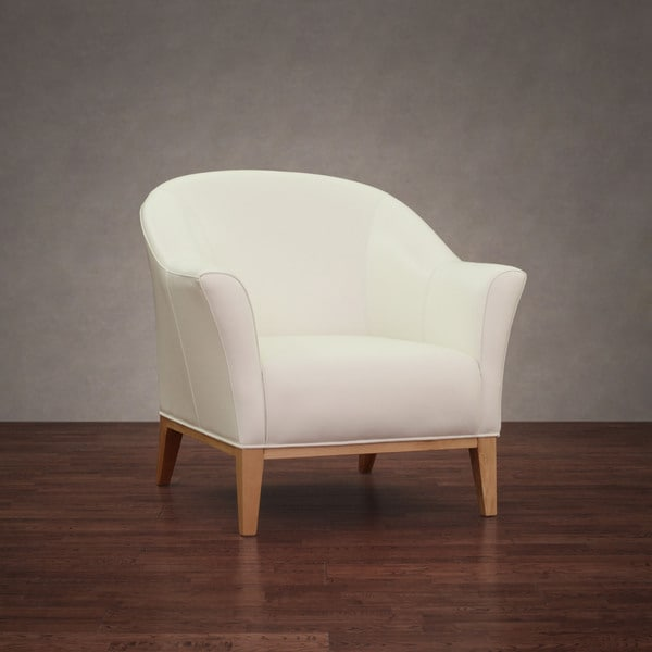 Tivoli Modern White Leather Chair