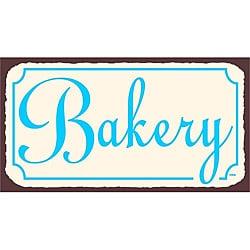 Vintage Metal Art 'Bakery' Tin Kitchen Wall Sign