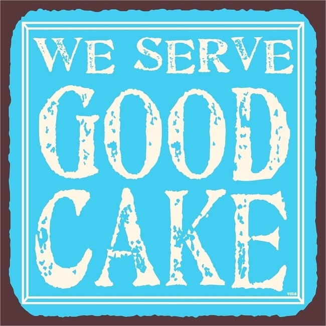 Shop Vintage Metal Art 'We Serve Good Cake' Decorative Tin