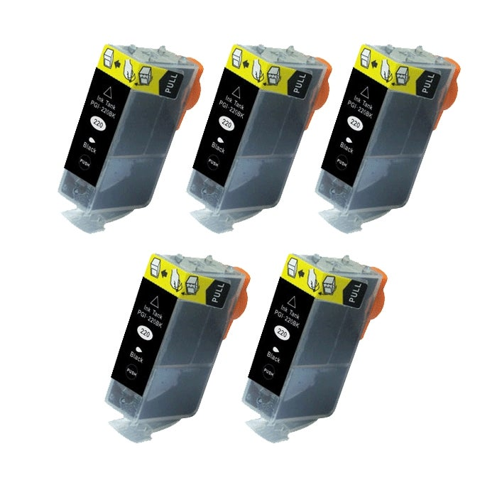 Canon PGI-220 Compatible Black Ink Cartridge (Pack of 5) - Thumbnail 0