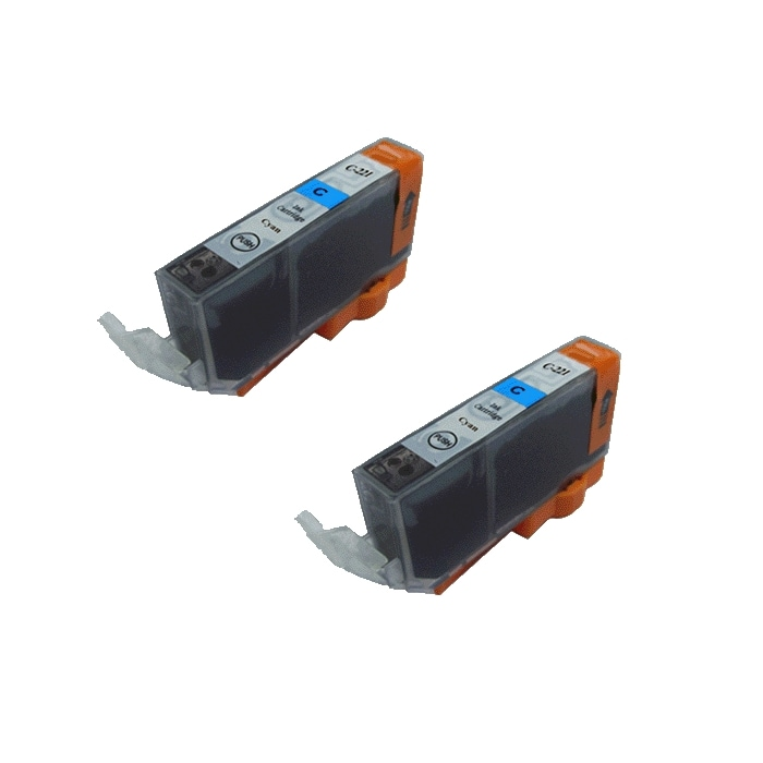 Canon CLI 221 Compatible Cyan Ink Cartridge (Pack of 2) - Thumbnail 0