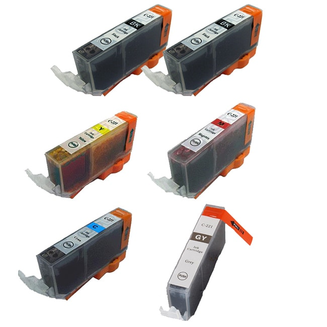 Canon CLI 221 Compatible Black / Color Ink Cartridge (Pack of 6) - Thumbnail 0