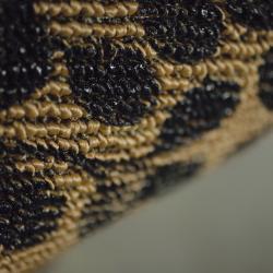 Somette Printed Sisal Black Mat (2' x 3')