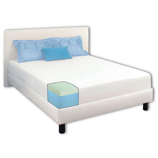 Dream Form Green Tea 10-inch Full-size Memory Foam Mattress