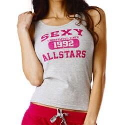 Stanzino Women's 'All Star' Red Tank and Capri Pajama Set