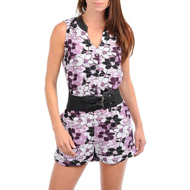 Stanzino Women's Lilac Belted Romper
