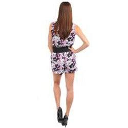 Stanzino Women's Lilac Belted Romper - Thumbnail 1