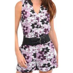 Stanzino Women's Lilac Belted Romper - Thumbnail 2