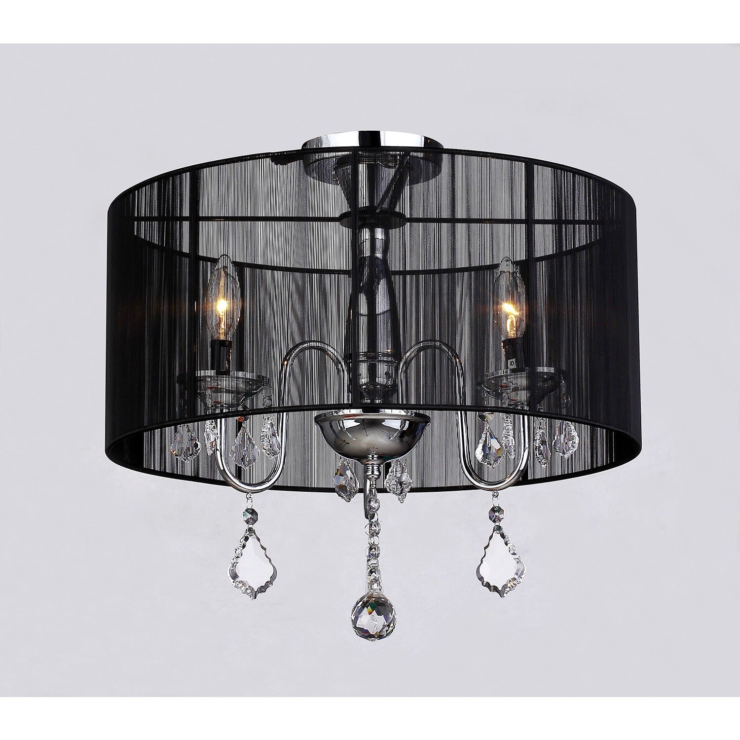 Shop Black Friday Deals On Warehouse Of Tiffany Round Satin Crystal Chandelier Overstock 6731471