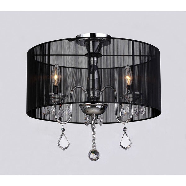 Warehouse of Tiffany Round Satin Crystal Chandelier