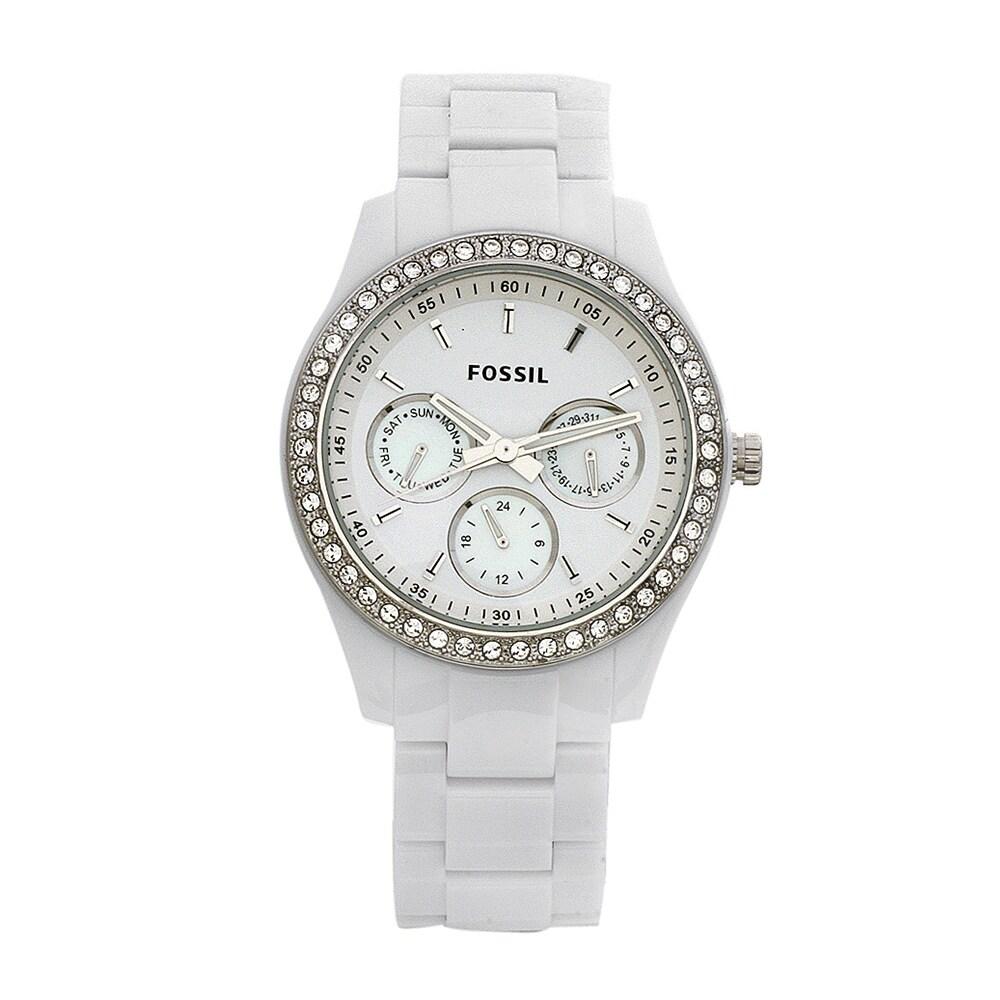 Fossil Women's ES1967 Stella White Glitz Watch