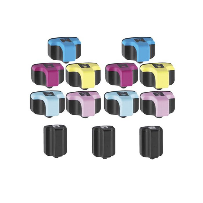 Hewlett Packard HP 02 Black/Color Ink Cartridge (Pack of 13) (Remanufactured) - Thumbnail 0