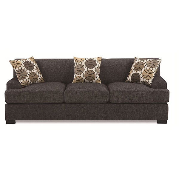 Ash Black Faux Linen Sofa