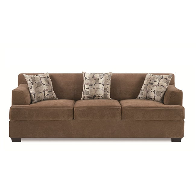 Tan Butter Velvet Sofa