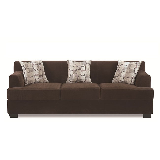 Shop Chocolate Butter Velvet Sofa