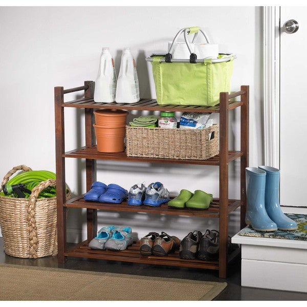 Merry Products Outdoor 4-tier Shoe Rack
