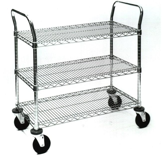 3 Shelf Wire Utility Cart L14278338 wire chrome shelving 10 on wire chrome shelving