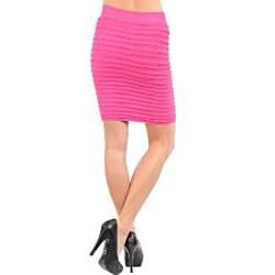 Stanzino Women's Fuschia Seamless Bandage Skirt - Thumbnail 1