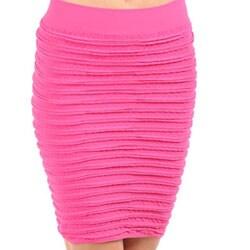 Stanzino Women's Fuschia Seamless Bandage Skirt - Thumbnail 2