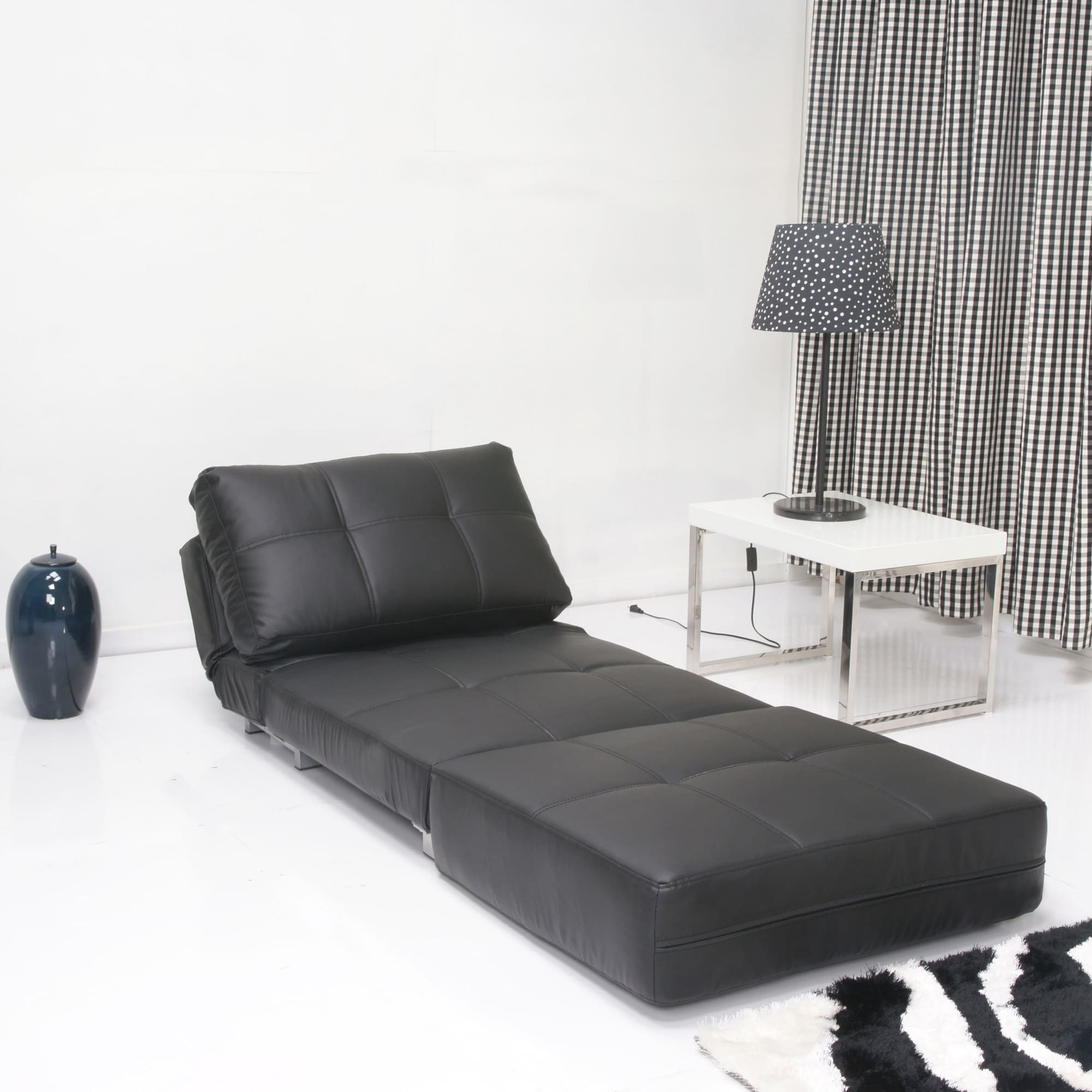 Marvelous New York Black Matte Convertible Chair Bed Pdpeps Interior Chair Design Pdpepsorg