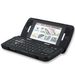INSTEN Black Snap-on Rubber Coated Phone Case Cover for LG enV Touch VX11000